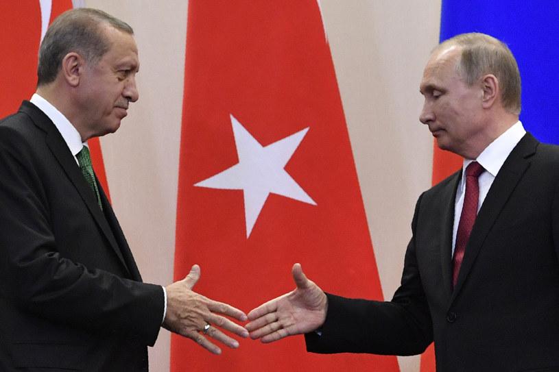 Prezydent Rosji Władimir Putin powiedział na spotkaniu z przywódcą Turcji Recepem Tayyipem Erdoganem /AFP