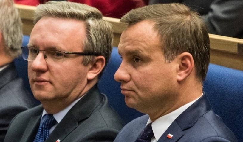 Prezydent RP Andrzej Duda i minister Krzysztof Szczerski /Jan Graczyński /East News