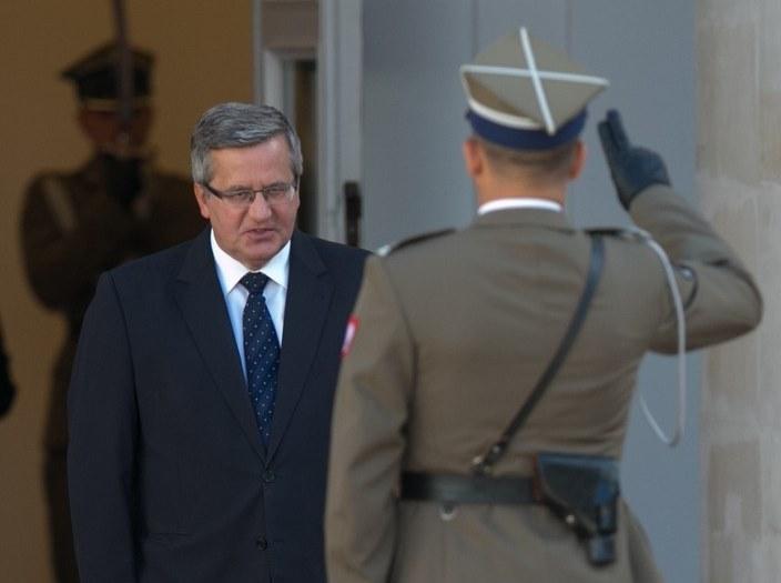 Prezydent RP Bronisław Komorowski /A. iwańczuk /Reporter