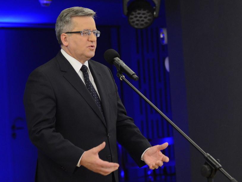 Prezydent RP Bronisław Komorowski /Jacek Turczyk /PAP