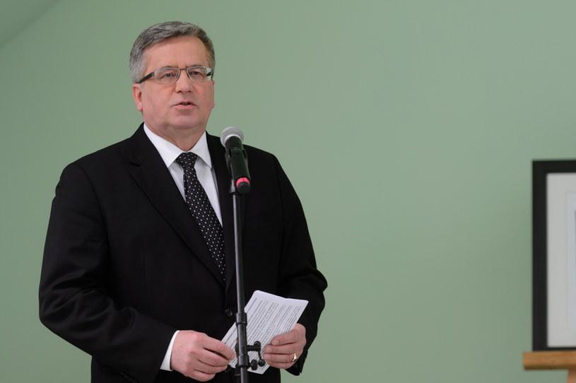 Prezydent RP Bronisław Komorowski /Jakub Kaczmarczyk /PAP