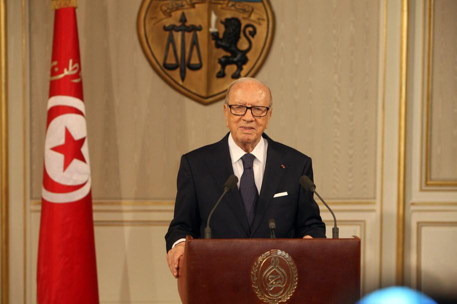 Prezydent Tunezji Bedżi Kaid Essebsi /TUNISIAN PRESIDENCY PRESS SERVICE /PAP