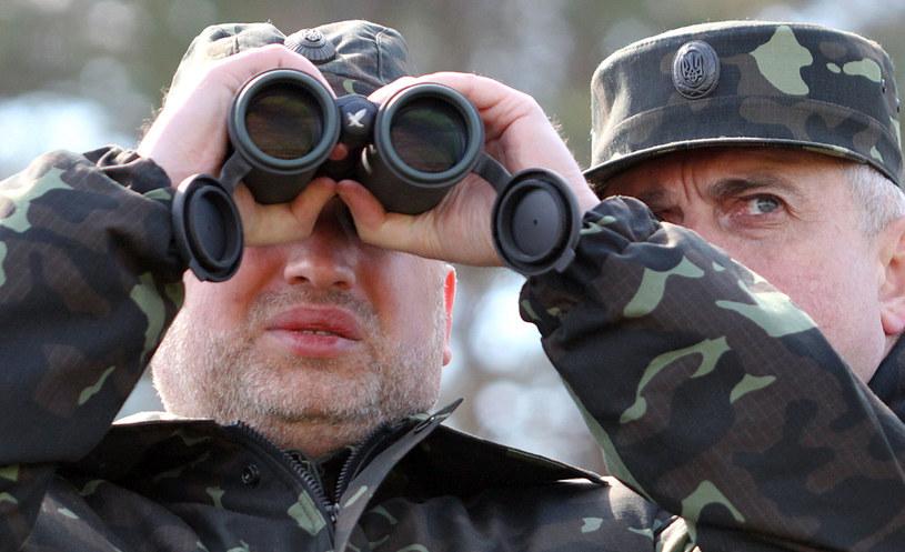 Prezydent Ukrainy Ołeksandr Turczynow. /AFP
