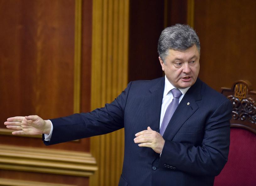 Prezydent Ukrainy Petro Poroszenko /SERGEI SUPINSKY /AFP