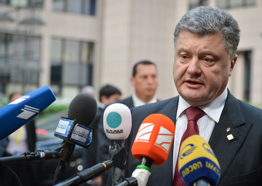 Prezydent Ukrainy Petro Poroszenko /STEPHANIE LECOCQ  /PAP/EPA