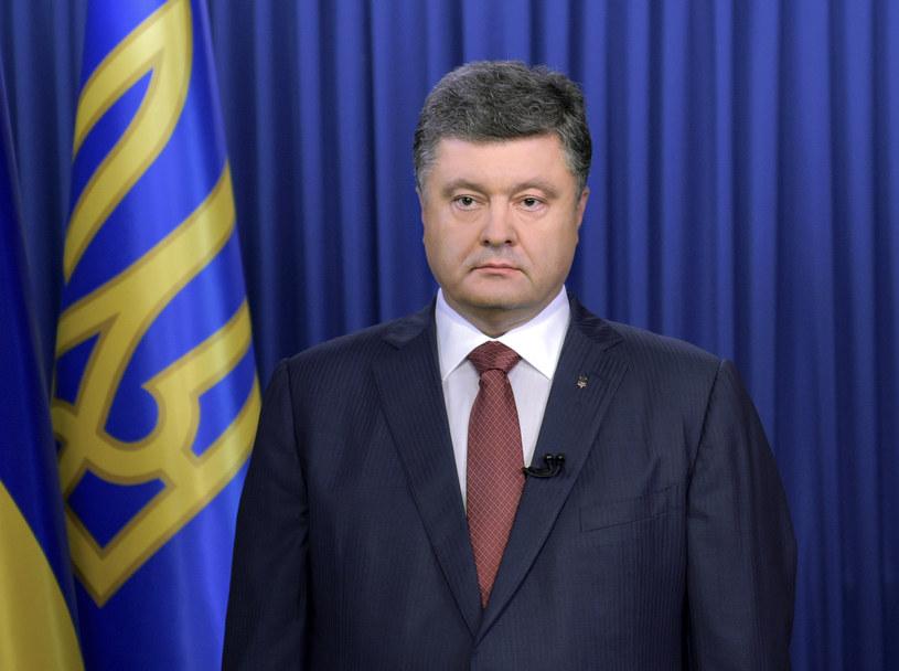 Prezydent Ukrainy Petro Poroszenko /MYKOLA LAZARENKO /AFP