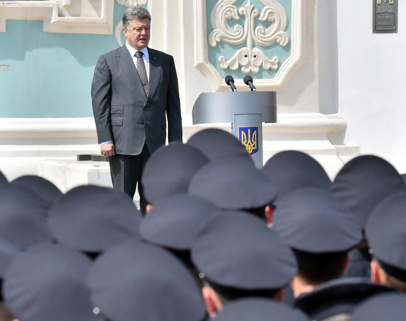 Prezydent Ukrainy Petro Poroszenko /AFP