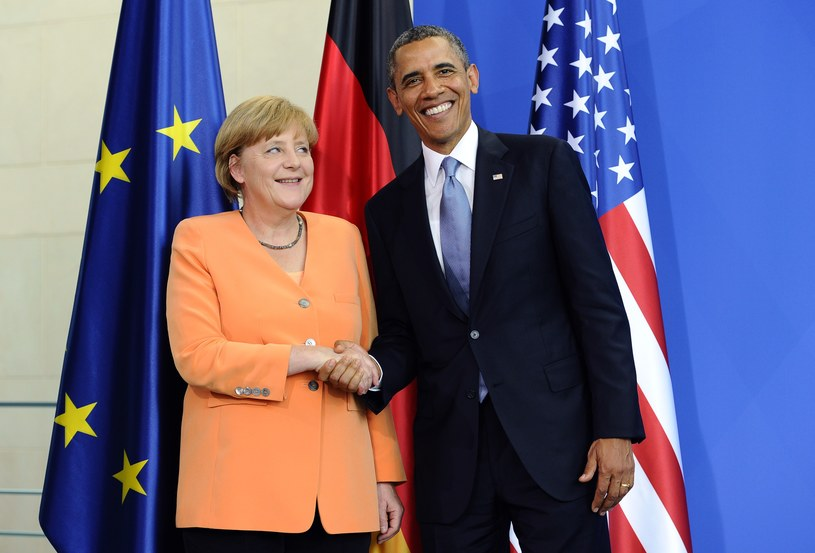 Prezydent USA Barack Obama i Angela Merkel. /AFP