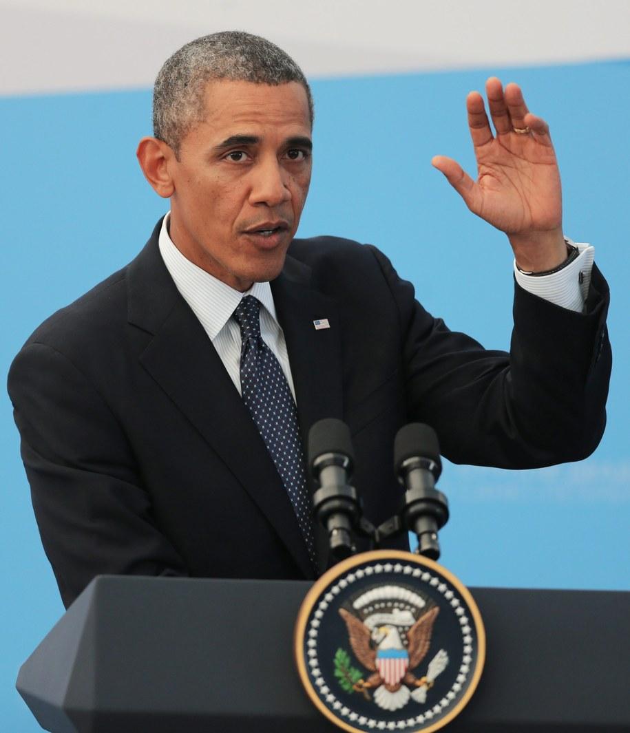 Prezydent USA Barack Obama /YURI KOCHETKOV /PAP/EPA