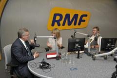 """Prezydent w RMF FM. """"Dziękuję flagą za flagę"""""""