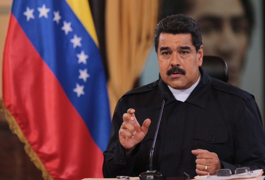 Prezydent Wenezueli Nicolas Maduro /ALBIN LOHR-JONES  /PAP/EPA