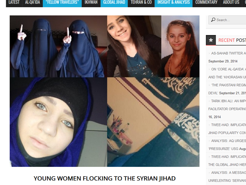 """""""Problem młodych kobiet i nastolatek wyjeżdżających do Państwa Islamskiego jest poważny"""" /Zdjęcie ze strony insidethejihad.com /"""