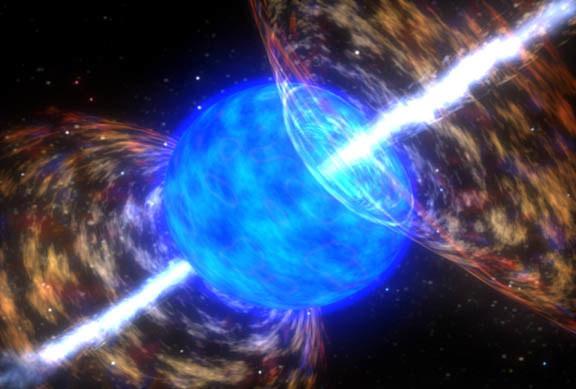 Proces kreacji zachodzi w przyrodzie w konsekwencji rozbłysków gamma /NASA