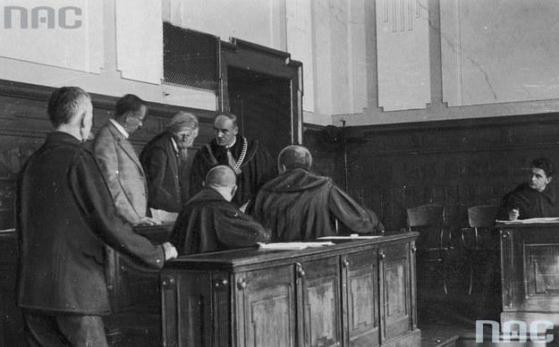 Proces o zabójstwo posła Tadeusza Hołówki w Samborze /Z archiwum Narodowego Archiwum Cyfrowego