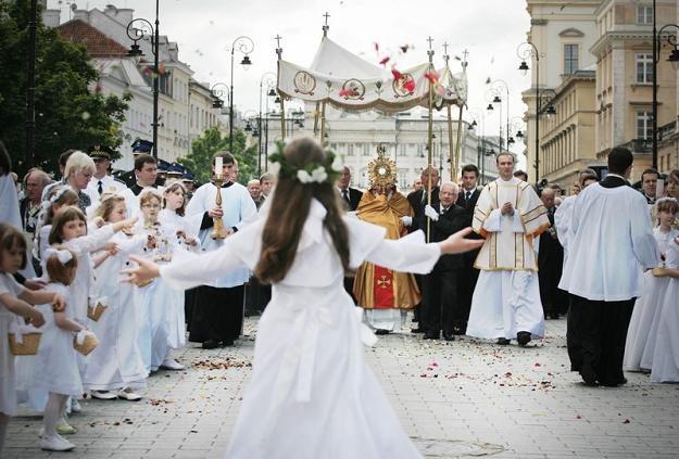 Procesja Bożego Ciała w Warszawie, fot. J. Waszkiewicz /Reporter