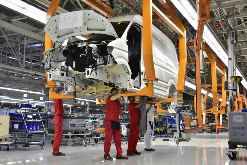 Produkcja Volkswagena Craftera w zakładzie we Wrześni /