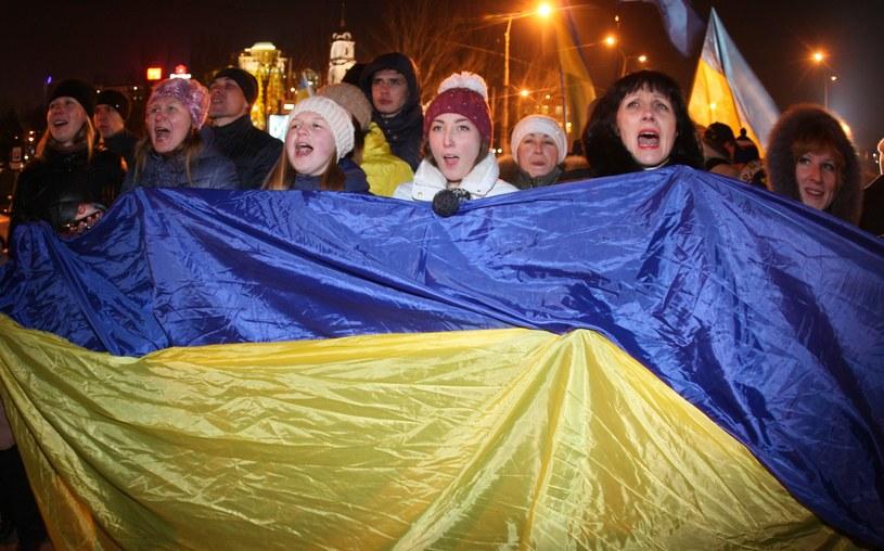 Proeuropejska manifestacja w Doniecku /AFP