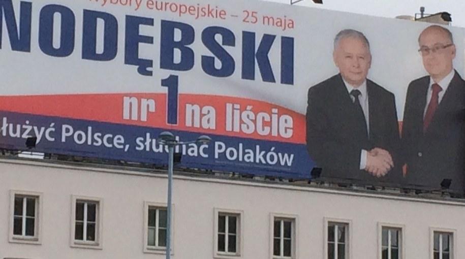 Prof. Krasnodębski na plakacie /Magdalena Gawlik /RMF FM