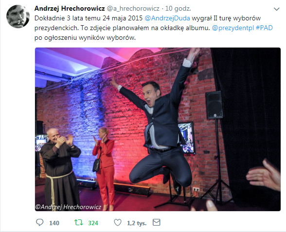 Profil Andrzeja Hrechorowicza na Twitterze /Twitter