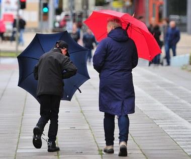 Prognoza pogody: Wciąż powyżej zera. Będzie wiać i padać