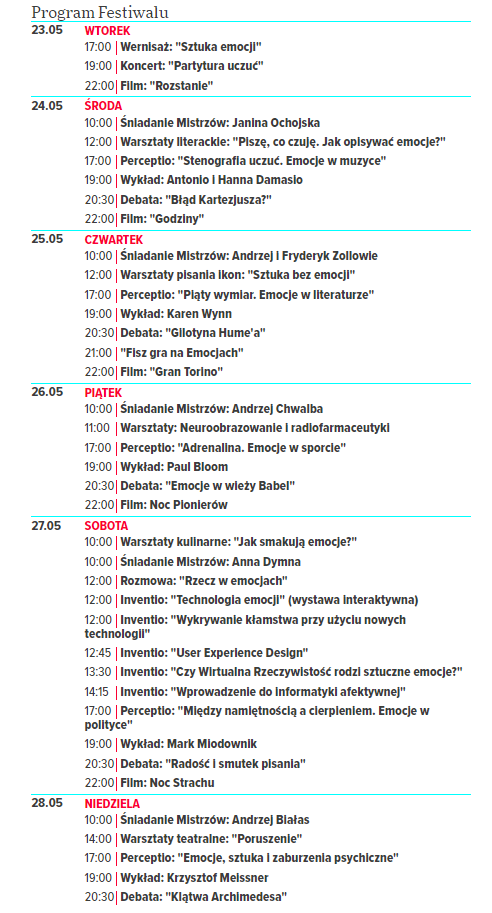 Program Copernicus Festival /
