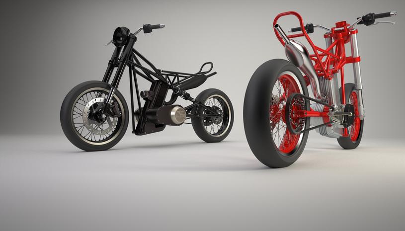 Projekt nowego motocykla WSK / dzięki uprzejmości Gminy Miejskiej Świdnik /