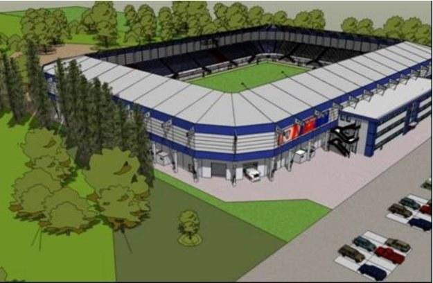 Projekt nowego stadionu w Gliwicach /Informacja prasowa
