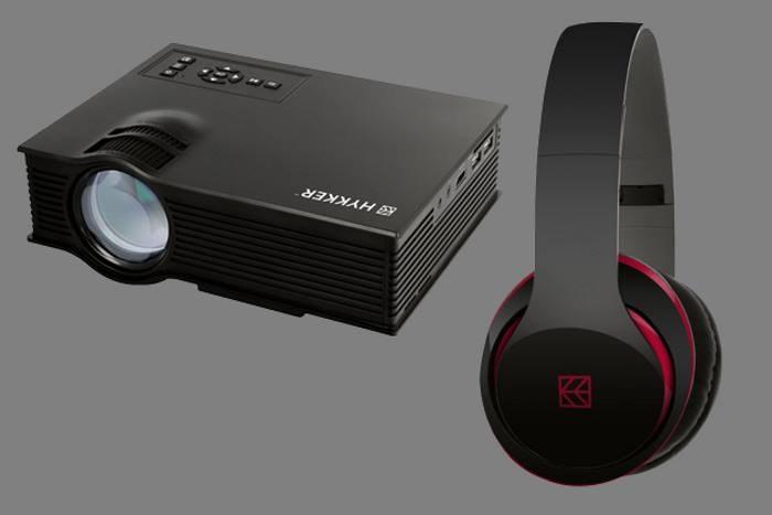 Projektor multimedialny LED Vision 130 i słuchawki Soul Sound /materiały prasowe