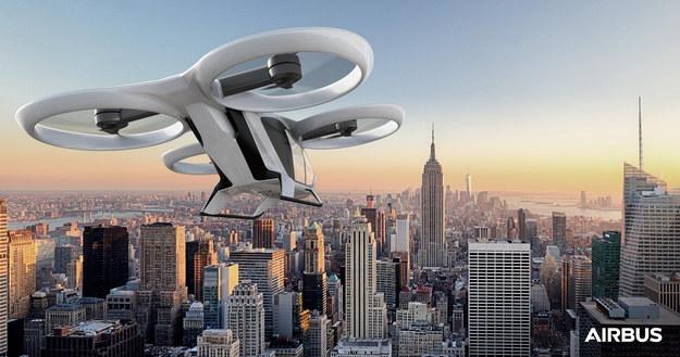 Projektowane rozwiązanie powietrznego transportu miejskiego (fot.Airbus) /&nbsp