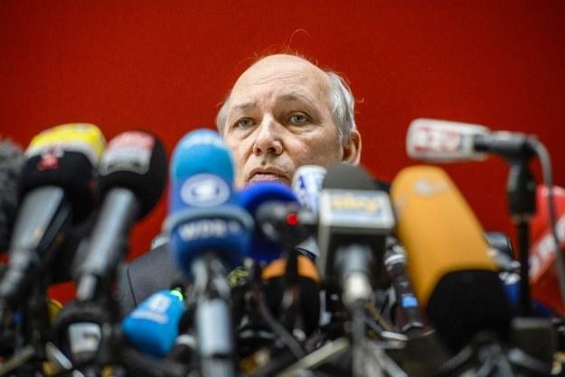 Prokuratow Quincy odpowadający na pytania dziennikarzy /AFP