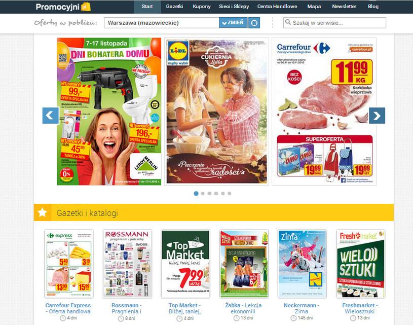 Promocyjni.pl, serwis internetowy prezentujący gazetki promocyjne, katalogi, a także kupony sklepów i sieci handlowych z całej Polski /materiały prasowe