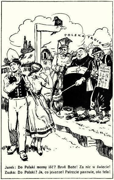 Propagandowa ulotka czechosłowacka z roku 1919 /Odkrywca