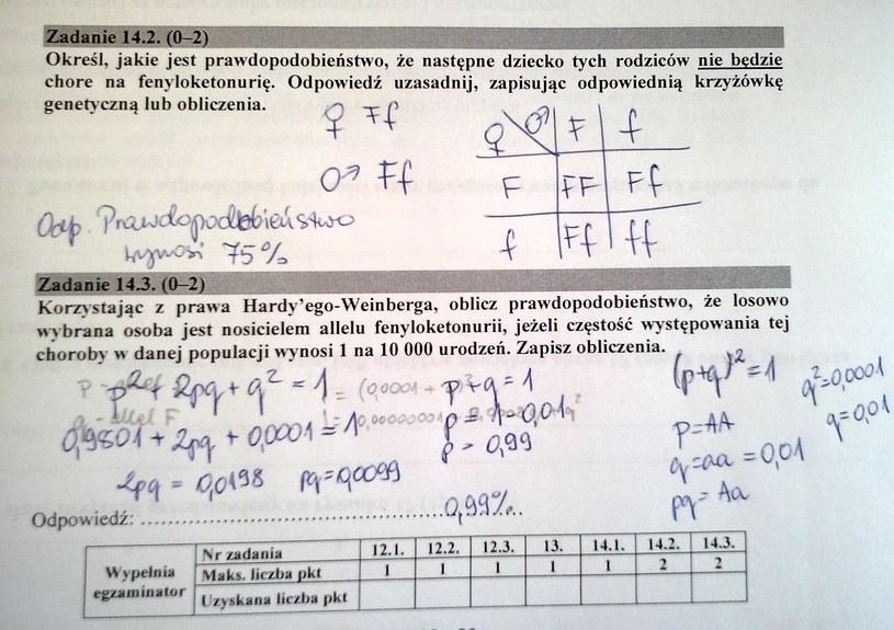 Proponowane rozwiązania zadań 14.2 i 14.3 (str. 15) /CKE /INTERIA.PL