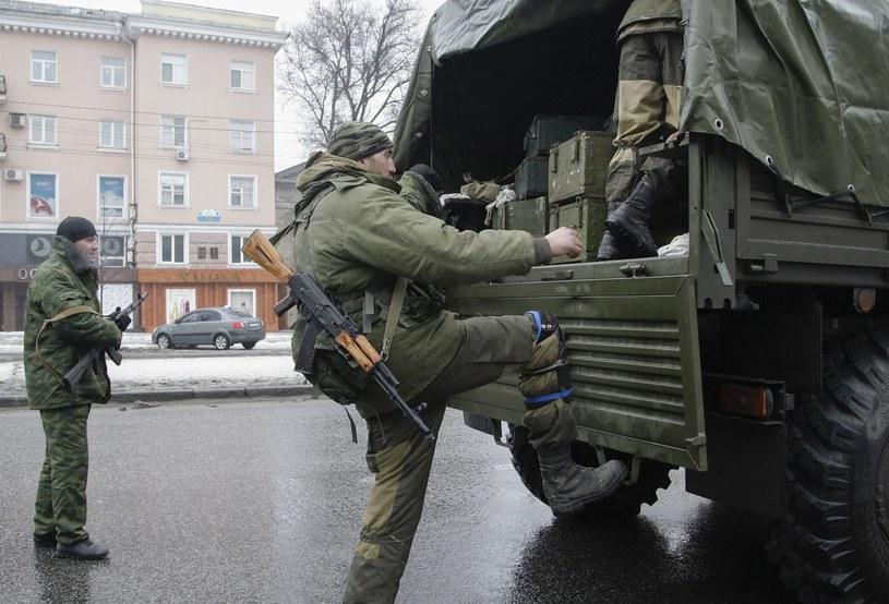 Prorosyjscy separatyści w Doniecku, 21.01.2015 /PAP/EPA