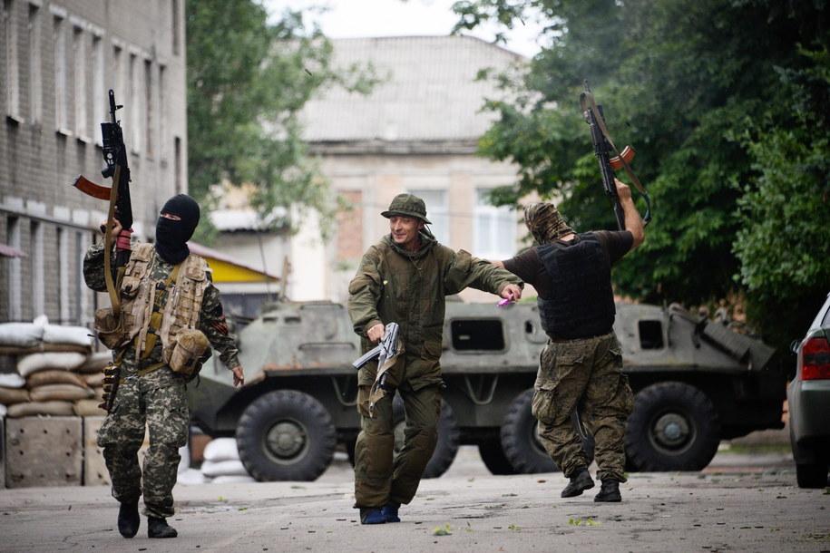 Prorosyjscy separatyści /STRINGER /PAP/EPA