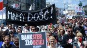 Protest frankowiczów w Warszawie