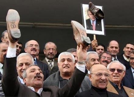 Protest Jordańczyków przeciwko uwięzieniu Muntazera al-Zaidi'ego /AFP