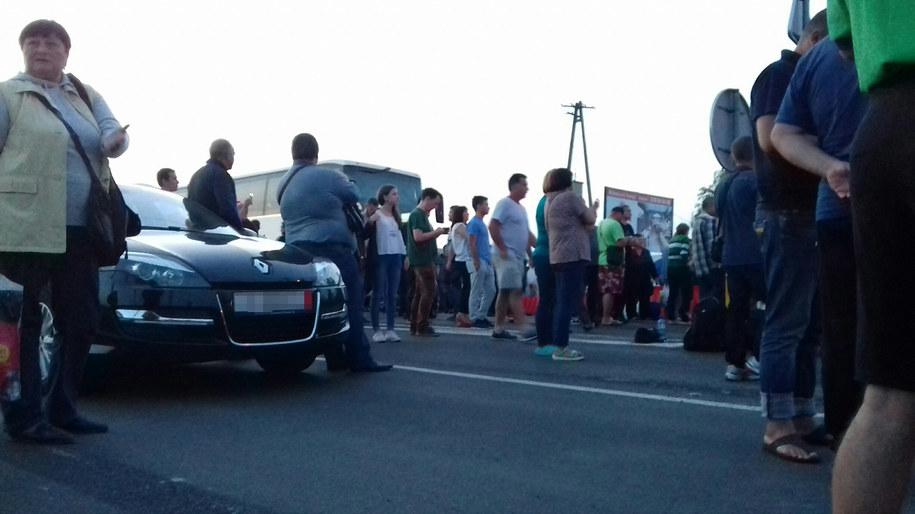 Protest na przejściu granicznym w Medyce /Marek Wiosło /RMF FM