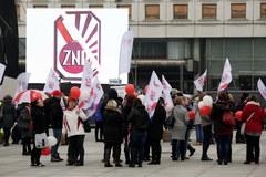 Protest nauczycieli w Warszawie