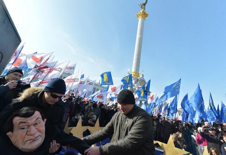 Protest opozycji w Kijowie /AFP