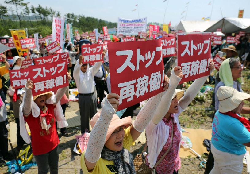 Protest przeciwników elektrowni atomowych /AFP