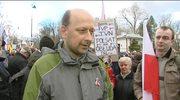 Protest przed ambasadą Rosji w Warszawie