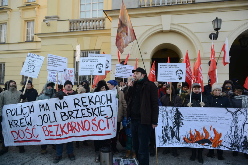 Protest przed komendą stołecznej policji / Jakub Kamiński    /PAP