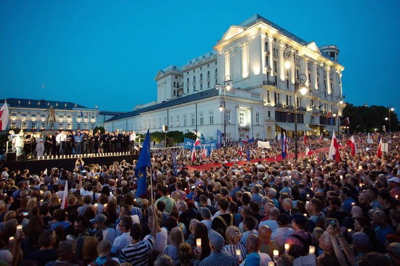 Protest przed Pałacem Prezydenckim, zdj. ilustracyjne /Paweł Wisniewski /East News