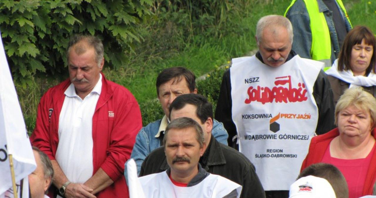 Protest salowych w Dąbrowie Górniczej
