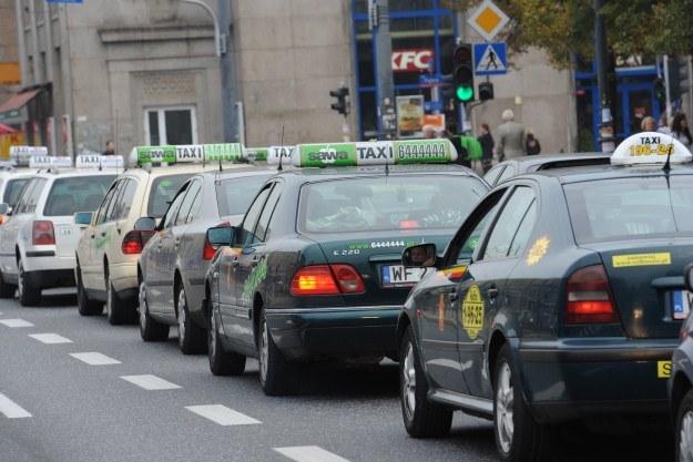 Protest taksówkarzy /PAP
