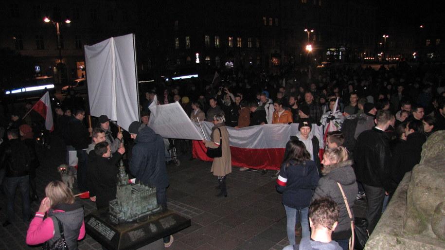 Protest w Krakowie /Maciej Grzyb /RMF FM