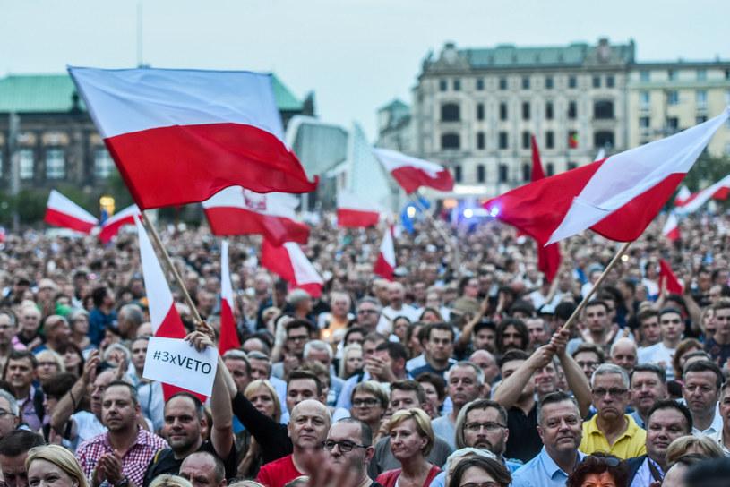 Protest w obronie sądów; Poznań /Lukasz Gdak /East News