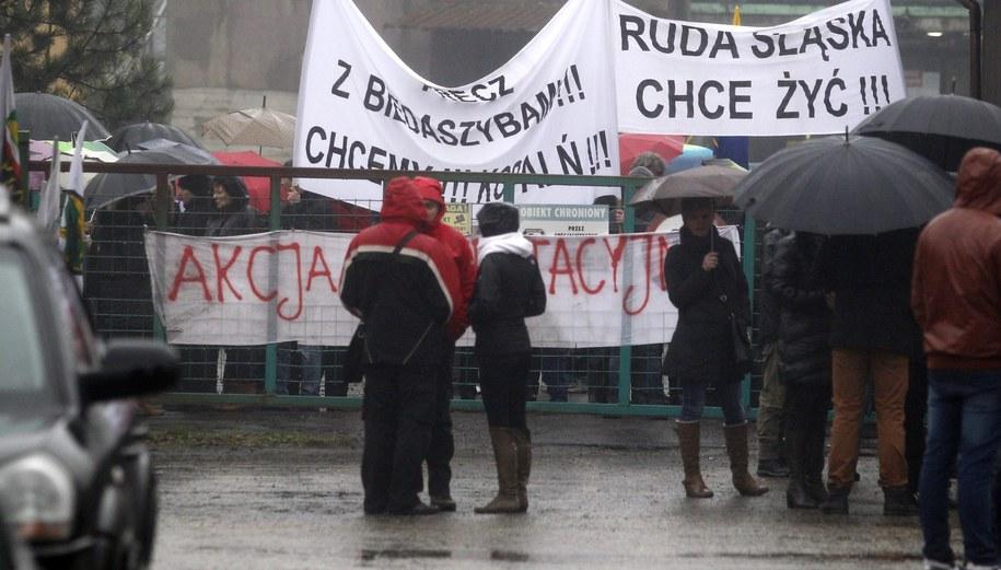 Protest w Rudzie Śląskiej /Andrzej Grygiel /PAP