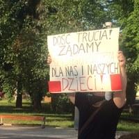 Protest w Skawinie: Chcemy wiedzieć, czym oddychamy